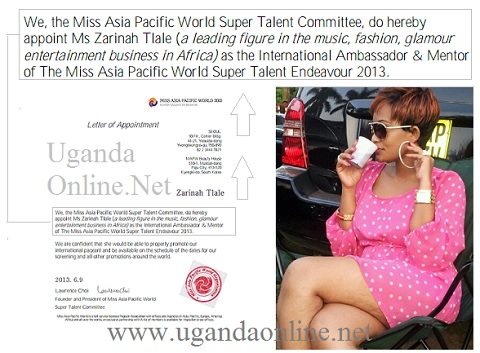 Zari appointed as mentor for Miss Asia Pacific World
