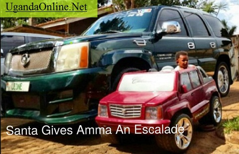 Amma in his new 'Escalade'