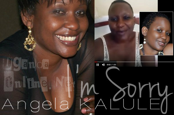 Angela Kalule has apologized for the leaked video