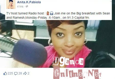 Anita Fabiola is now a radio host with Capital FM