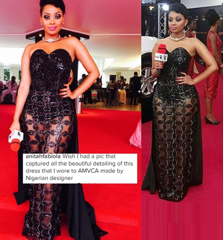 Anita Fabiola at the Africa Magic Viewer's Choice Awards