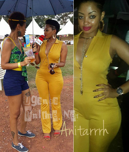 Anita Fabiola showing off her T-String