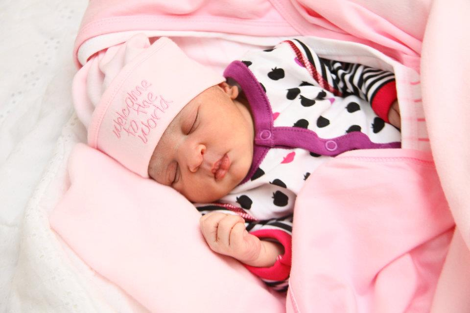 Alba Shyne Mayanja was born on 8-Feb-2012 at Nsambya hospital