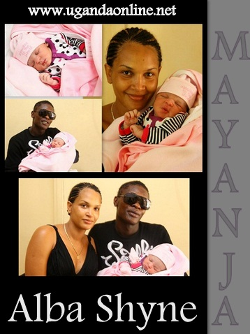 Jose Chameleone and wife Daniella at Nsambya hospital where Shyne was born