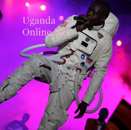 Chameleone dressed like an astronaut during the Badilisha Concert