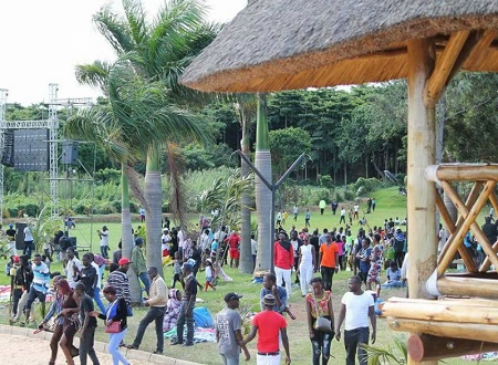 Fans at Bobi Wine's One Love Beach on Easter Monday
