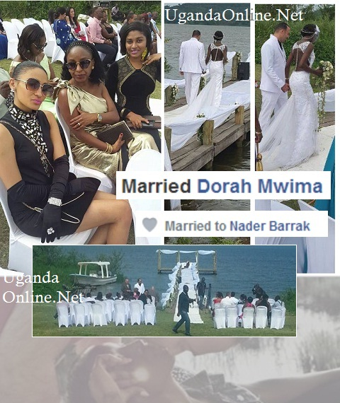 Dorah and Barak at their wedding at Speke Resort Munyonyo