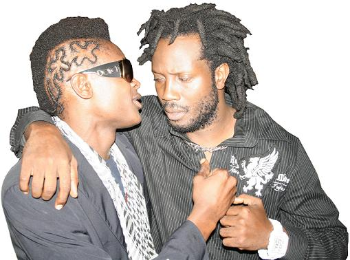 Jose and Bebe Cool at the Bayuda Launch at Hotel Africana