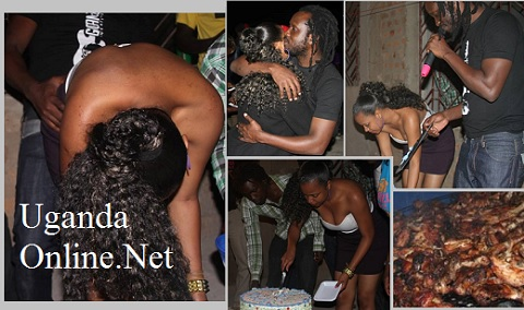 Bebe Cool and Zuena during the birthday bash