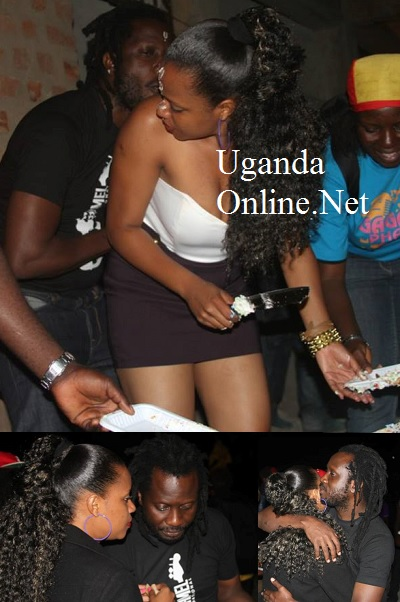 Zuena and Bebe Cool share a moment at their Kiwatule Apartments