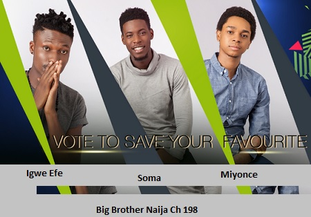 Efe, Soma and Miyonce are up for eviction