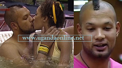 Big Brother Stargame winner Keagan and Talia kissing while in the house