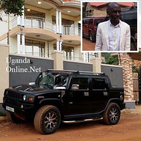 Inset is tycoon Mbuga with a pick-up hummer parked at the new mansion