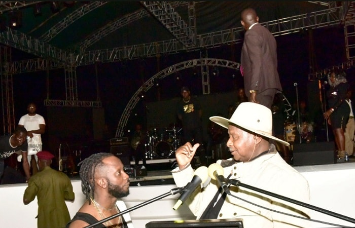 Bebe Cool listens to the President