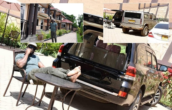 Bebe Cool shows off his BLACK Landcruiser V8