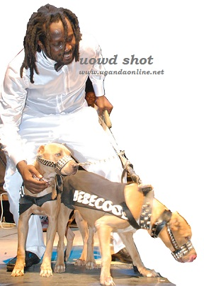Bebe Cool with the Dogs at the Minzani Launch