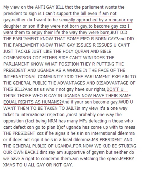 Bebe Cool's statement on the homosexuality bill