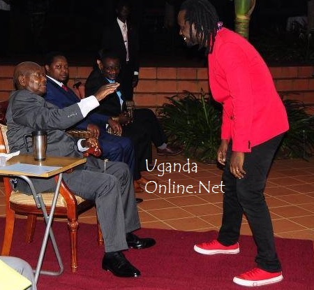 Bebe Cool meets President Museveni in Munyonyo