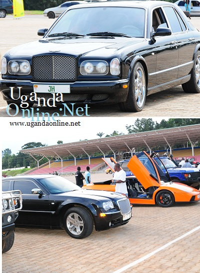 Some of the cars at the UG Auto Show Exhibition