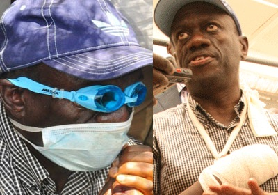 Besigye shot at with a rubber bullet