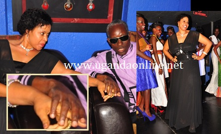 The Queen mother with Ge. Elly Tumwine at Club Silk