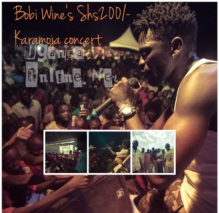 Bobi Wine performing for the first time in Gulu