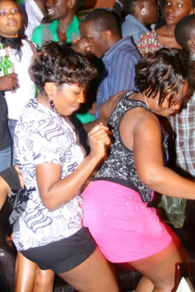 Revellers having fun at Club Silk during the Aziz Unplugged show