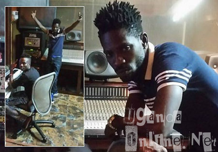 Bobi Wine in studio working on Bikwase Kyagulanyi