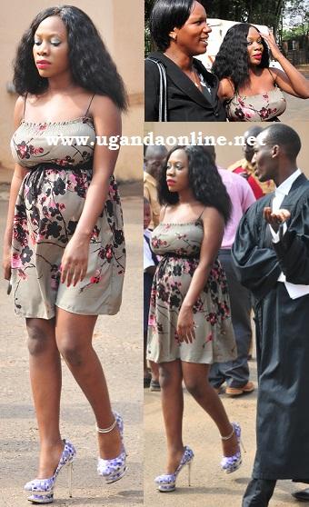 Pregnant Bad Black at the court premises