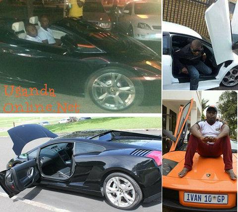 Ivan is now in a black Lamborghini