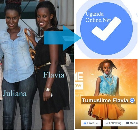 Flavia has a blue badge on her facebook page