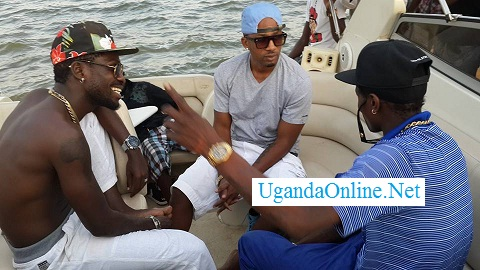 Bobi Wine, Meddie Sentongo and Chameleone on a boat cruise
