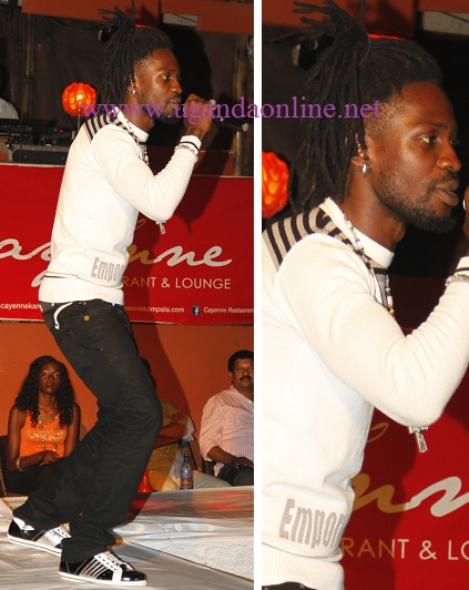 Bobi Wine at Cayenee Bar and Lounge recently
