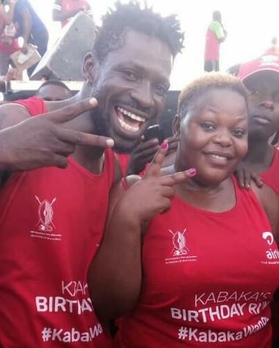 Bobi Wine during the Kabaka birthday run
