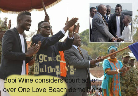 Beach Demolition-Bobi Wine considers court action