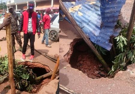 Bobi Wine and locals saving motorists from 'sinking'