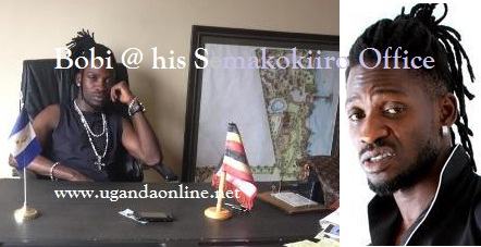 Bobi Wine at his Semakokiro based offices