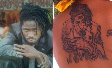 Bobi Wine's portrait on Barbie's back