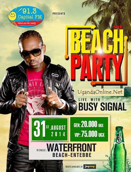 Busy Signal's Kampala Beach Party cancelled