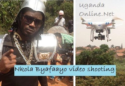 Bebe Cool during the Byafaayo video shoot