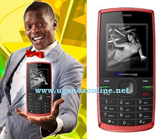 Chameleone displaying a phone named after him