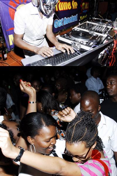 Sanyu FM's DJ BK at Cayenne