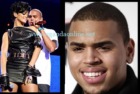 Chris Brown and Rihanna performing