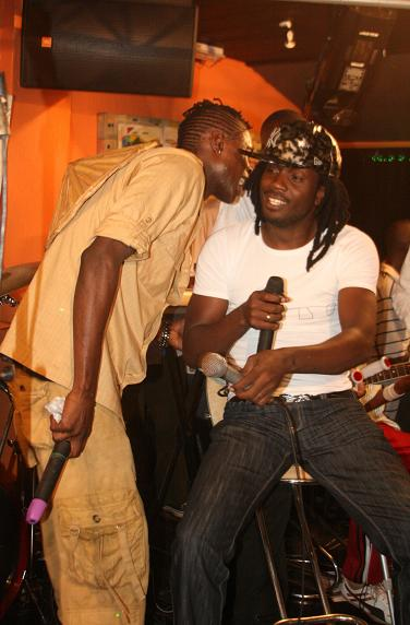 Chamili consulting Bebe at Club Silk during the Unplugged Show