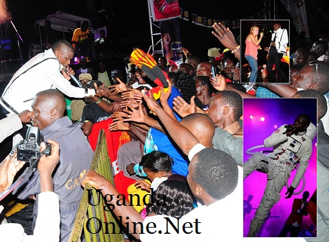Fans wanting to feel Chameleone at the Badilisha Concert