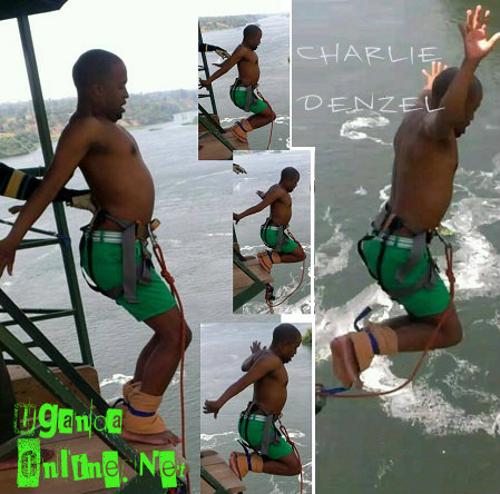 Charlie Denzel bungee jumping