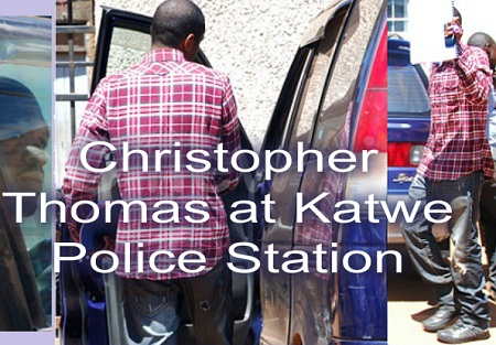 Christopher at Katwe Police station in Kibuye
