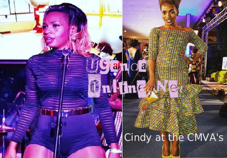 Cindy's dress cpde shocked fans at the CMVA's