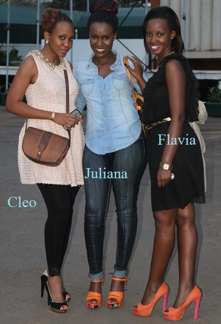 Cleopatra, Juliana and Flavia during the Kampala TPF auditions