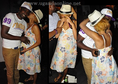 Gareth Onyango and expecting Nickita Bachu at Club Rouge